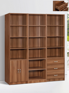 Marrone Book Case Set - White Oak 3 piece display