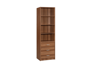 Marrone Book Case 4 Layers Triple Drawers - White Oak display