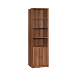 Marrone Book Case 4 Layers Double Doors - White Oak display