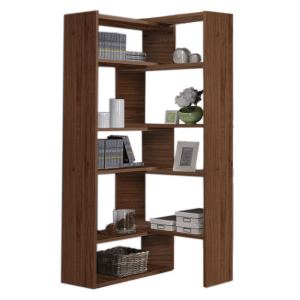 Aperto 5 Layers Sliding Bookshelf - White Oak display