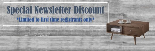 Special Cabinet Newsletter Discount for first time registrants