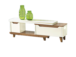 Bianca TV Console Double Drawers - Gloss Glass display