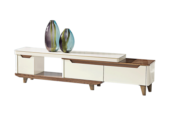 Bianca TV Console Triple Drawers - Gloss Glass display