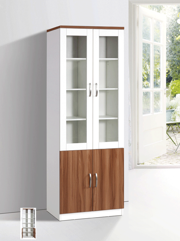 Bianca DD Glass Display Twin Hinged Doors - White Oak display