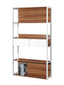 Bianca Duo Drawers Book Case - White Oak display