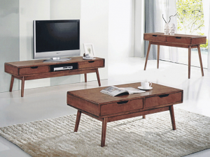 Ricco ASW Coffee Table TV Console - Rustic Espresso display
