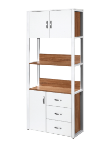 Bianca Triple Cabins Triple Drawers Book Case - White Oak display