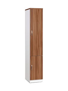 Bianca Single Column Duo Doors Privacy Book Case - White Oak display