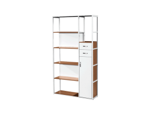 Bianca Grande Dozzina Book Case - White Oak display