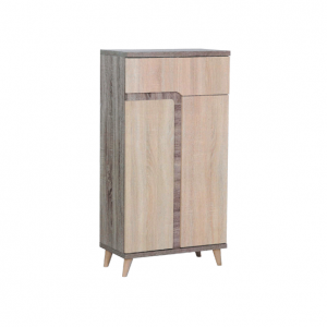 Ruvido Twin Shoe Cabinet - Matt Raw display