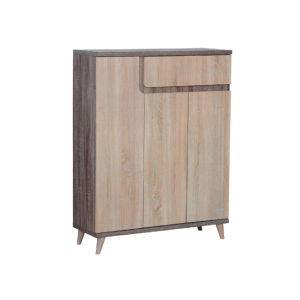 Ruvido Trio Shoe Cabinet - Matt Raw display
