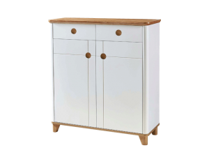 Ottanta Twin Shoe Cabinet - White Oak display