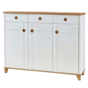 Ottanta Trio Shoe Cabinet - White Oak display