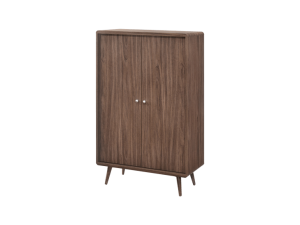 Luminosa Twin Shoe Cabinet - American Walnut display