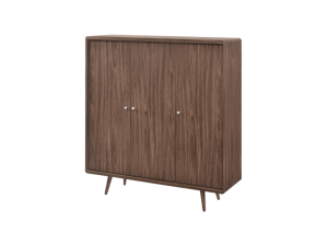 Luminosa Trio Shoe Cabinet - American Walnut display