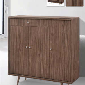 Luminosa Trio-Cassetto Shoe Cabinet - American Walnut display